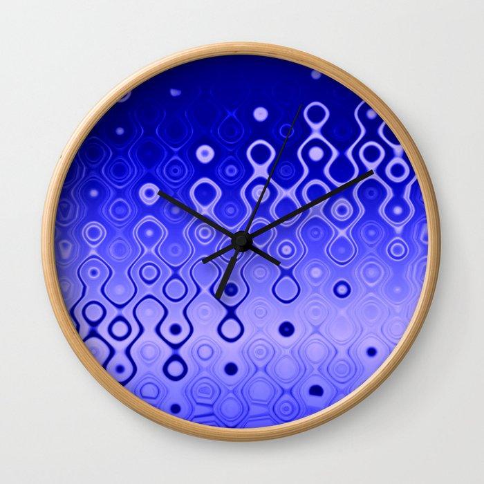 Lost in Dots (ultramarine night) Wall Clock