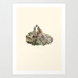 Lima. Bear and maiden. Art Print