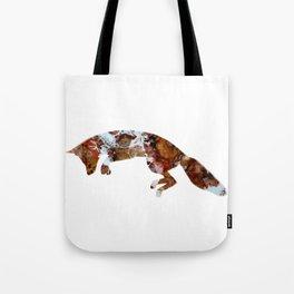 Jumping Fox Abstract Art Digital Art Fluid Image Tote Bag