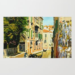 Venezia - Venice Italy Vintage Travel Rug