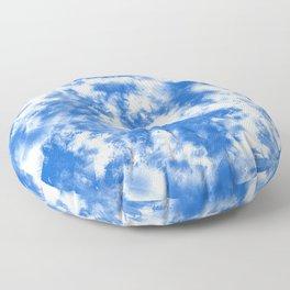Blue Tie Dye & Batik Floor Pillow
