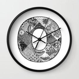 Cutout Letter O Wall Clock