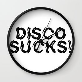 Disco Demolition Night Wall Clock