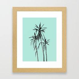Palm Trees - Mint Cali Summer Vibes #1 #decor #art #society6 Framed Art Print