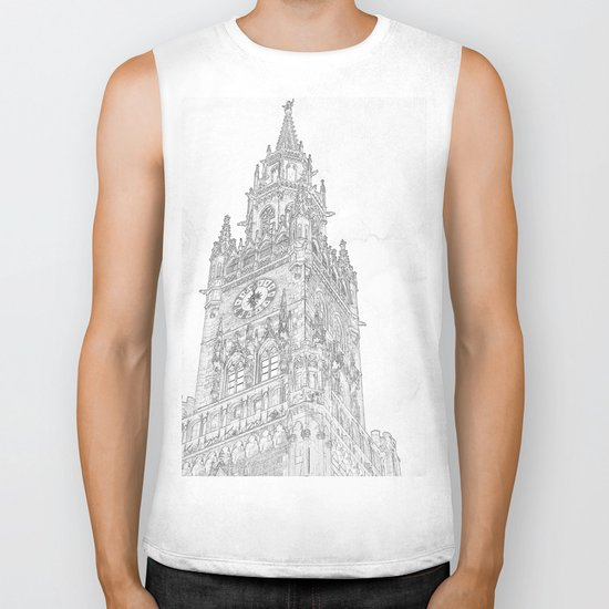 Tower of Big Ben Biker Tank