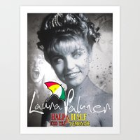 laura palmer Art Prints featuring Laura Palmer Half & Half by Adam Hunter
