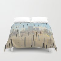 dallas Duvet Covers featuring Dallas by Calepotts