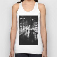 new york city Tank Tops featuring New York City Noir by Vivienne Gucwa