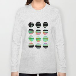 colorful circles pattern design Long Sleeve T-shirt