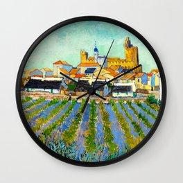 View of Saintes-Maries-de-la-Mer (1888) by Vincent van Gogh Wall Clock