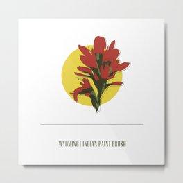 Wyoming | Indian Paint Brush Metal Print