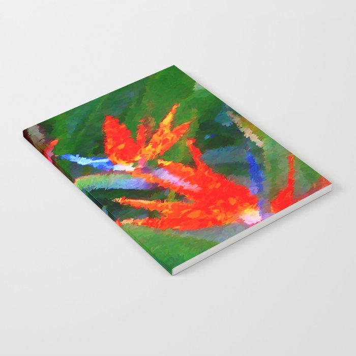 Bird of Paradise Family Abstract Notebook