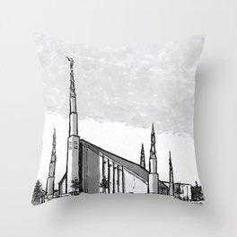 Boise Idaho Temple Throw Pillow
