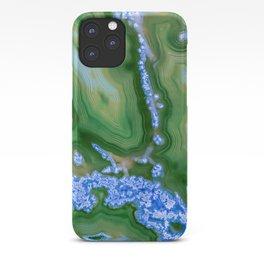 Dark Green agate iPhone Case