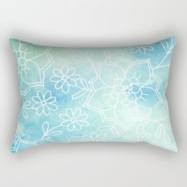 Watercolour abstract floral 2 Rectangular Pillow