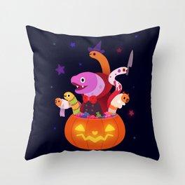 Spooky eels Throw Pillow
