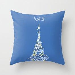 belle à Paris Throw Pillow