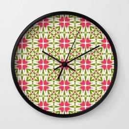 Spring Hearts of Love Wall Clock