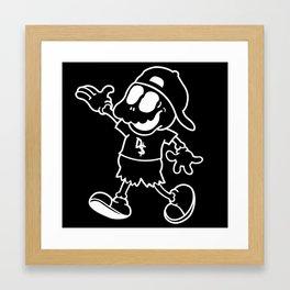 "Bat Boy ""Walking"" Pillow (Black) Framed Art Print"