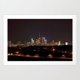Toronto at Night from Riverdale Park Art Print