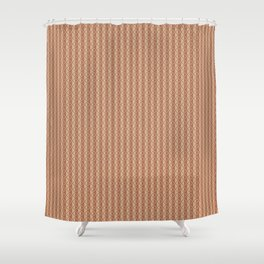 Cavern Clay SW 7701 Vertical Stripes and Diamond Grid on Ligonier Tan SW 7717 Shower Curtain