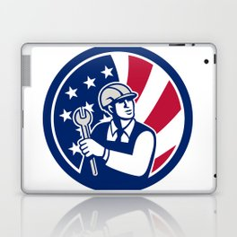 American Engineer USA Flag Icon Laptop & iPad Skin