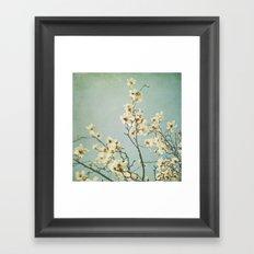 Magnolia blossoms. Mint Framed Art Print