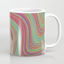 OLEANDER trails of fuschia red grass green abstract Coffee Mug