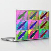 led zeppelin Laptop & iPad Skins featuring Zeppelin Warhol by Sara PixelPixie