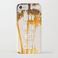 west coast iPhone & iPod Cases featuring WEST COAST by Jack Stobart
