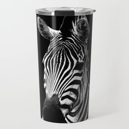 Zebra Black Travel Mug
