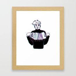Accordion Boy Framed Art Print