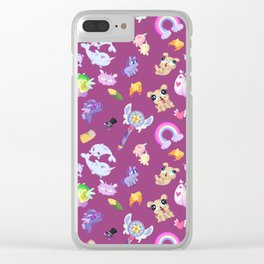 Star vs the Forces of Evil Pattern ( Pink ) Clear iPhone Case