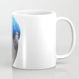 Blue Parrot Portrait Coffee Mug