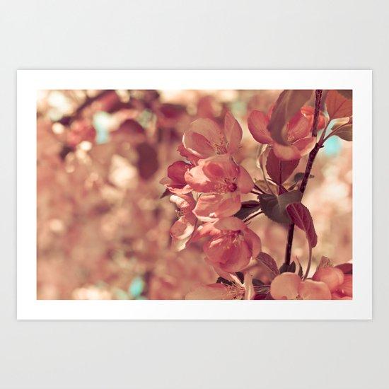 Ode to pink Art Print