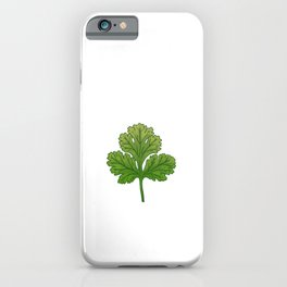 I hate Coriander Herb Hating Herb Hater iPhone Case