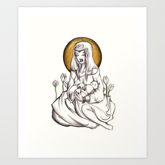 Madonna of Plastic Art Print