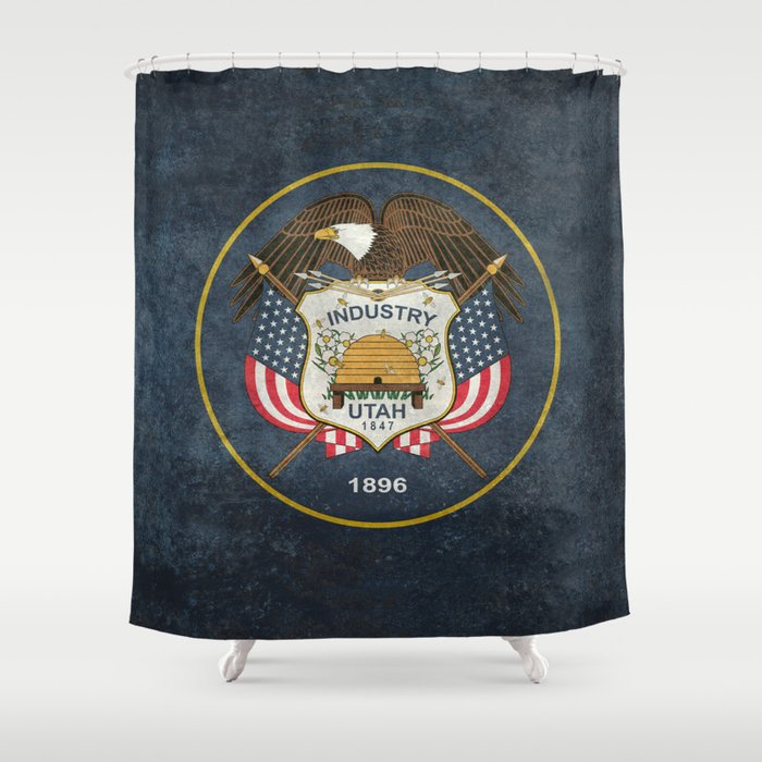 Utah State Flag - vintage version Shower Curtain