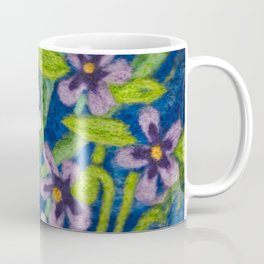 Cozy Felted Wool Flower Garden Coffee Mug