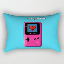 Don't Play With My Heart Rectangular Pillow