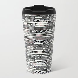 Removing Filters (P/D3 Glitch Collage Studies) Travel Mug