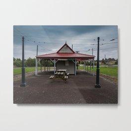 Tram Station Metal Print