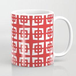 Mid Century Modern Pattern 282 Red Coffee Mug