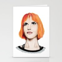hayley williams Stationery Cards featuring Hayley Williams by Jayde Tayla