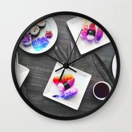 Rainbow Roll Selective Saturation Recolor Wall Clock