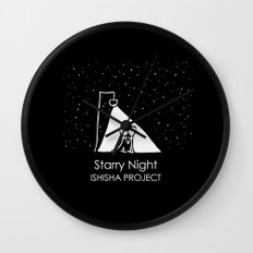 Starry Night by ISHISHA PROJECT Wall Clock
