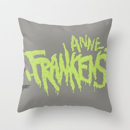 Anne Frankenstein Throw Pillow