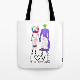 LOVE is no BUTT Joke - Handwritten Tote Bag