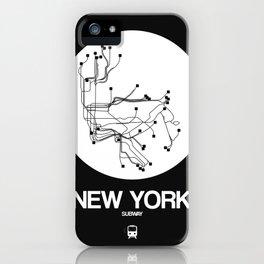 New York White Subway Map iPhone Case