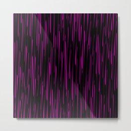 Vertical cross pink lines on a dark tree. Metal Print